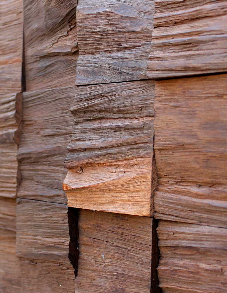 Wandpaneele - Holz Eucalyptus Thermobehandelt - Sediment Wave