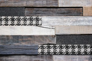 Wandpaneele - Material Mix Stoff Holz Lasiert