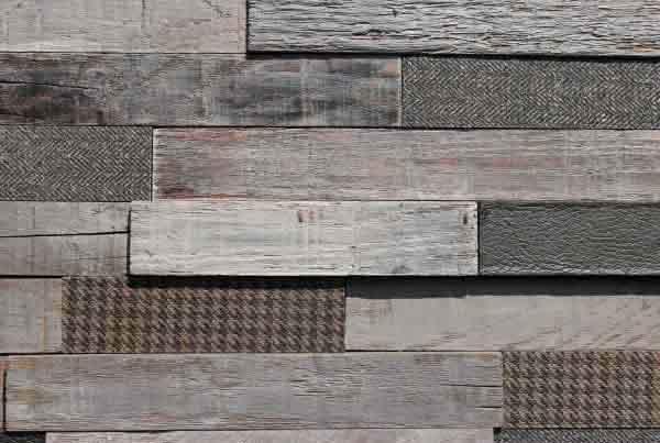 Wandpaneele - Material Mix Stoff Holz reycelt