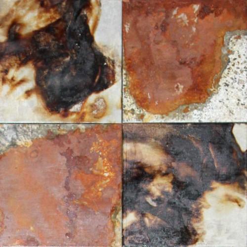 Wandpaneele aus Metall - Desert Delta - oxidiert