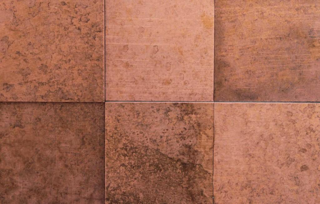 wandpaneele metall kupfer rose hochvier material id