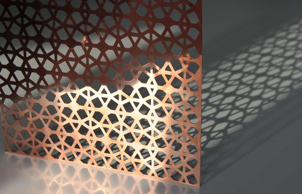Trennwand Kupfer Gelasert Oval Oriental Material Id