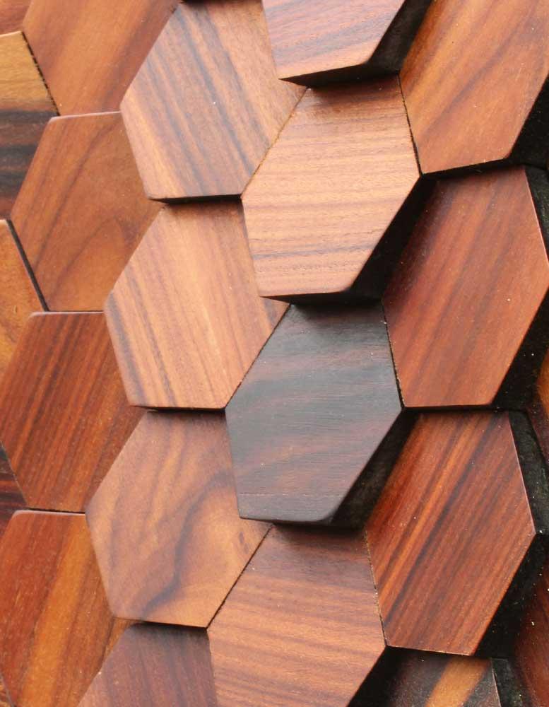 wandpaneele holz furnier eisenholz gewachst wabenecht. Black Bedroom Furniture Sets. Home Design Ideas