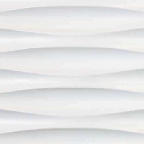 3D Wandpaneele MDF Texturiert - gefräst weiß lackiert - Eismeer