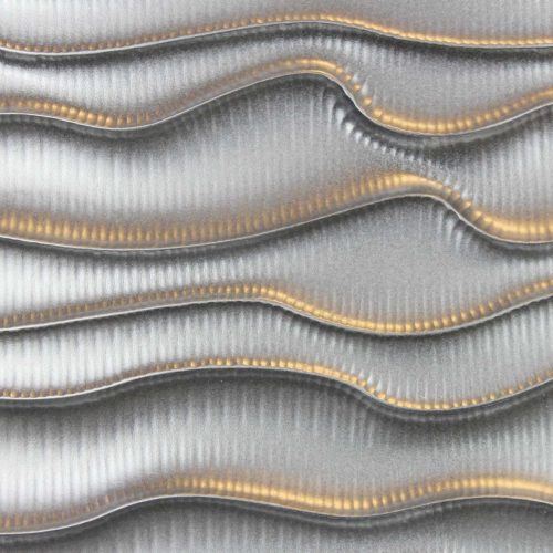 3D Wandpaneele MDF Texturiert - silber lackiert - Linien Untreu