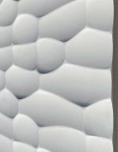 3D Wandpaneele Texturiert - MDF - Snowy Horizons-seitlich